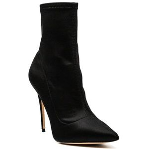 Aldo Cirelle Stiletto Booties Black Satin